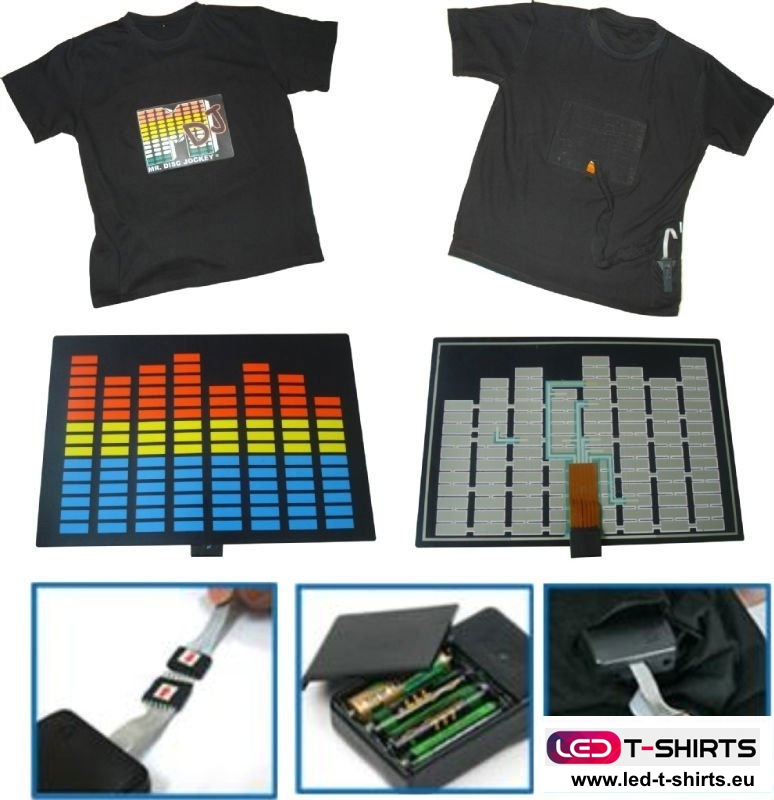 LED-T-Shirt, wie es funktioniert