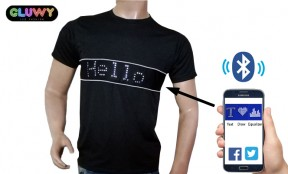LED T-Shirts mit programmierbarer LED scroolable Anzeige über Smartphone